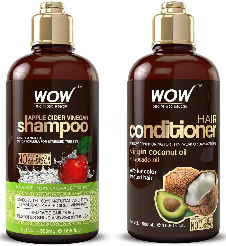 WOW, Apple Cider Vinegar Shampoo - Reduce Dandruff, Frizz, Split Ends