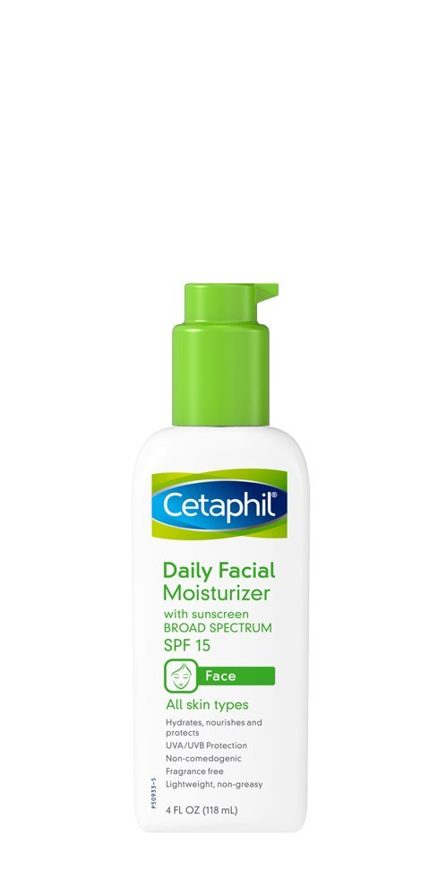 Cetaphil Daily Facial Moisturizer with Sunscreen Broad Spectrum SPF 15, Fragrance-Free