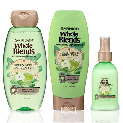 Garnier Hair Care Whole Blends Refreshing Green Apple and Green Tea Hair Care with Shampoo