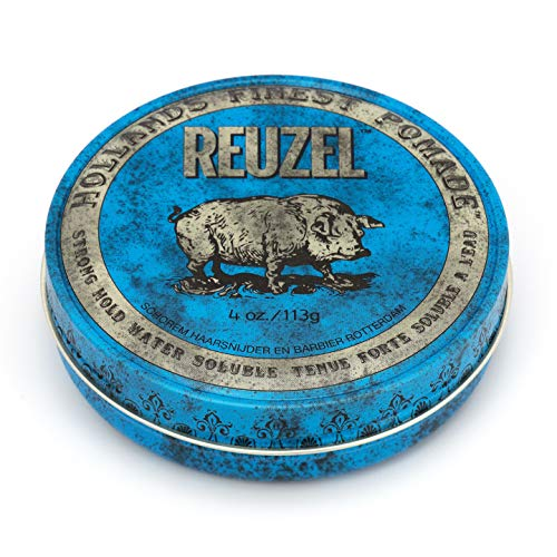 REUZEL Blue Pomade, Strong Hold, Water Soluble