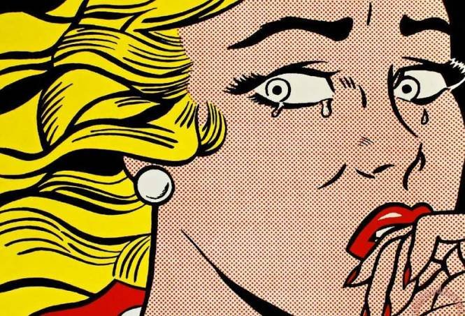 "Halloween Idea: Lichtenstein's ""Crying Girl"""