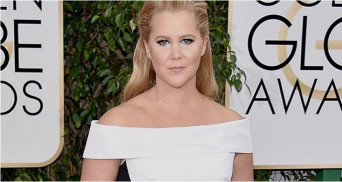 Amy Schumer at the Golden Globes 2016