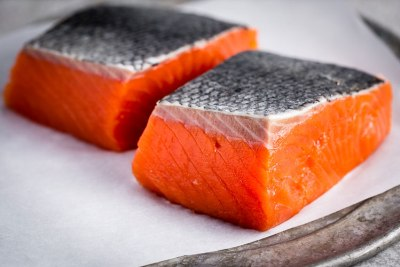 Fresh salmon for skin