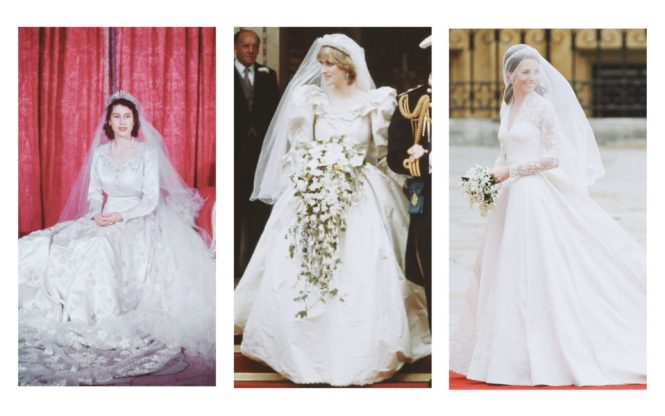 Royal Wedding Queen Elizabeth, Princess Diana, Kate Middleton
