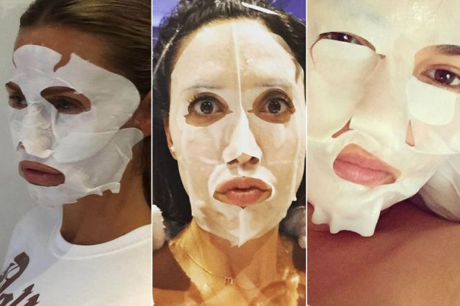 Prominente Sheet Masks Instagram Chrissy Teigan
