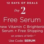 12 Days of Deals – Day 2 – Free Anew Vitamin C Brightening Serum