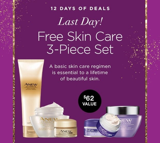 Avon 12 Days of Deals – Day 12 – Free Anew Skin Care Set –  Your Choice