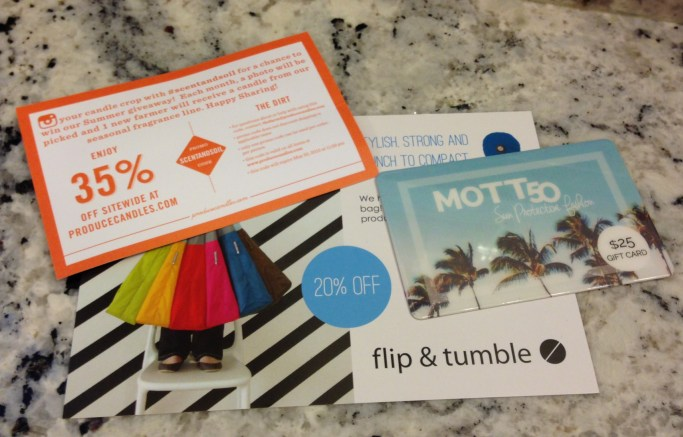 Gift cards and discounts from Popsugar Must Have box