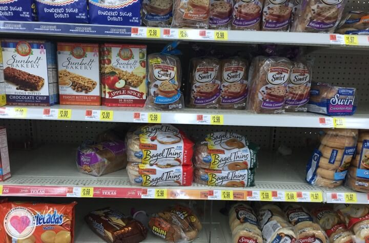 Walmart display aisle