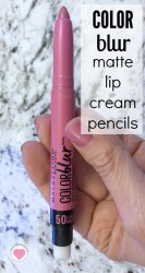 Maybelline Colorblur matte cream lip pencils