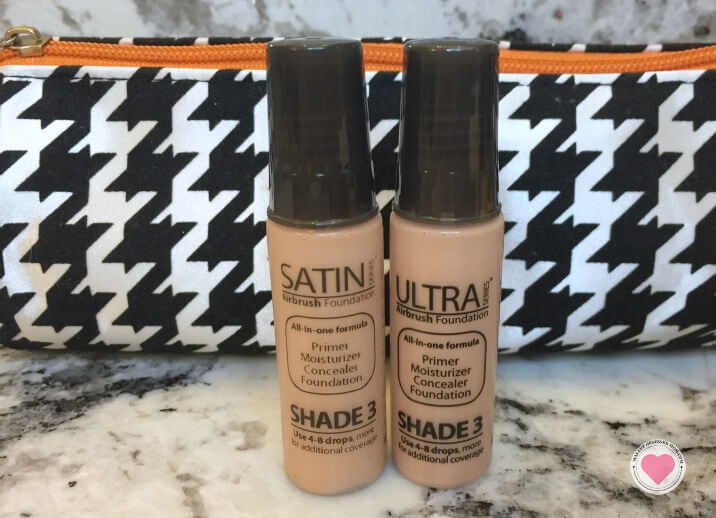 I was able to try the Satin and Ultra Luminess Air foundation formulas