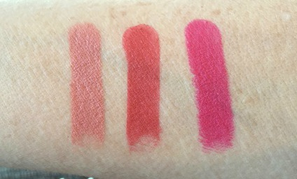 swatches for Osmosis Mineral lipstick