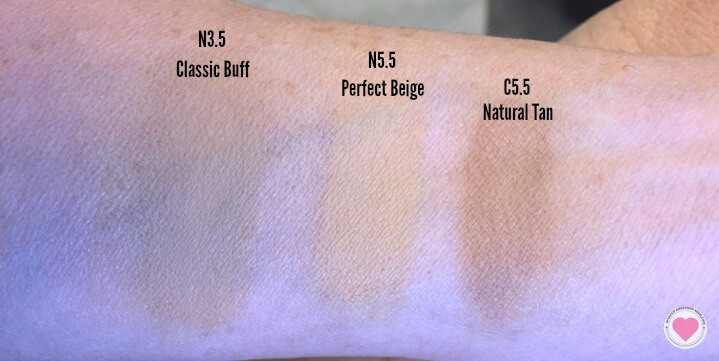 Lumi cushion foundation swatches