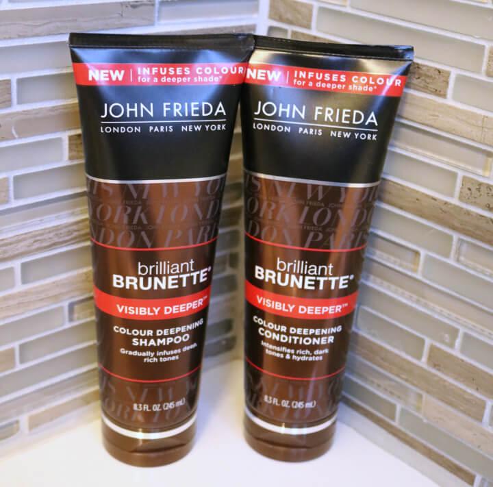 John Frieda brilliant brunette shampoo and conditioner