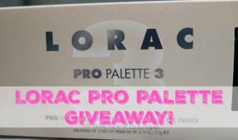 Lorac Pro Palette 3 Giveaway