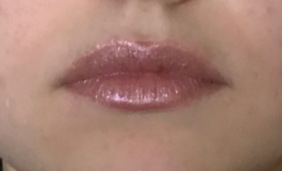 pale rose metallic lipstick