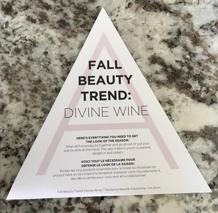 Divine Wine fall beauty trend