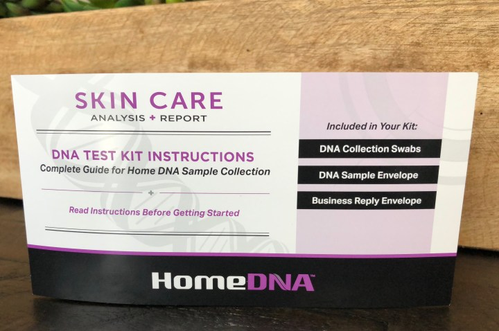 home dna skin care test instructions