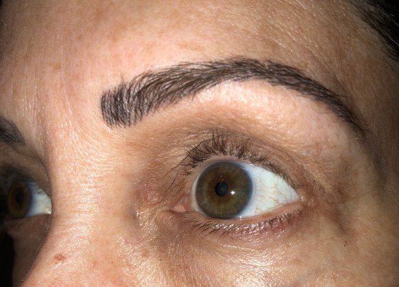 eyebrow microblading 5 week followup picture