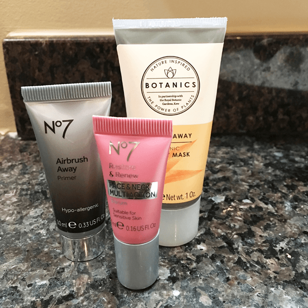 face mask and hand lotion