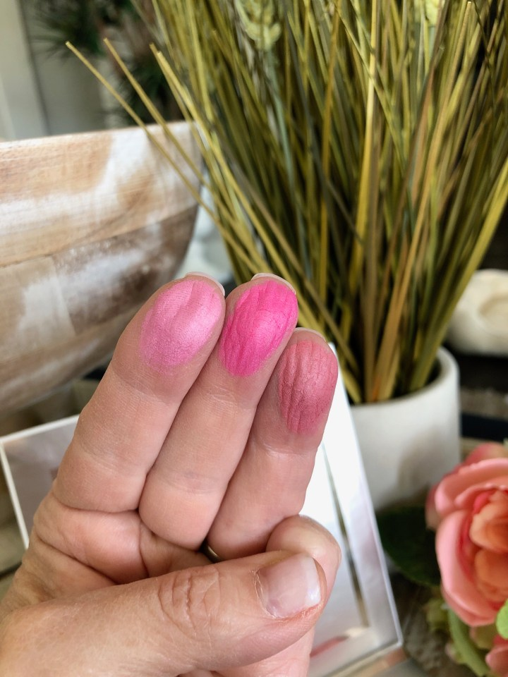 Swatch of the Pur Cosmetics Loyal Blush