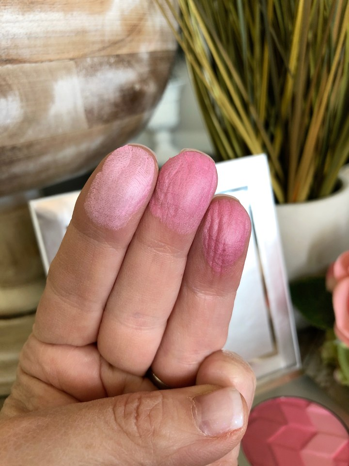 Swatch of the Pur Cosmetics Passionate Blush