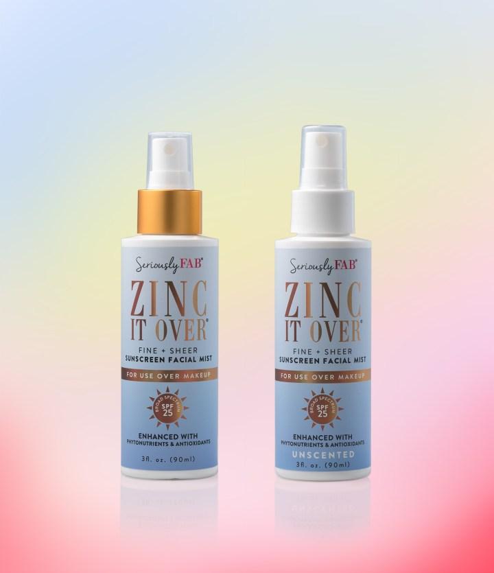 Zinc It Over sunscreen facial mist