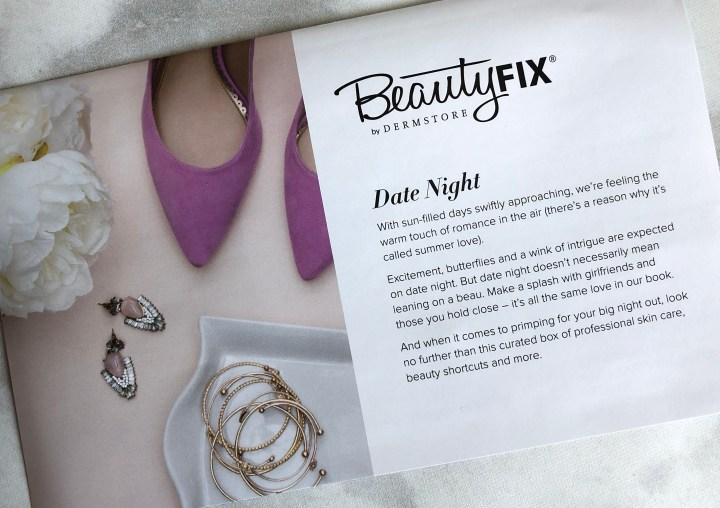 BeautyFix by Dermstore Date Night theme box