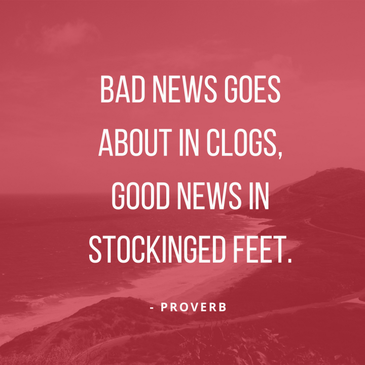 good news proverb
