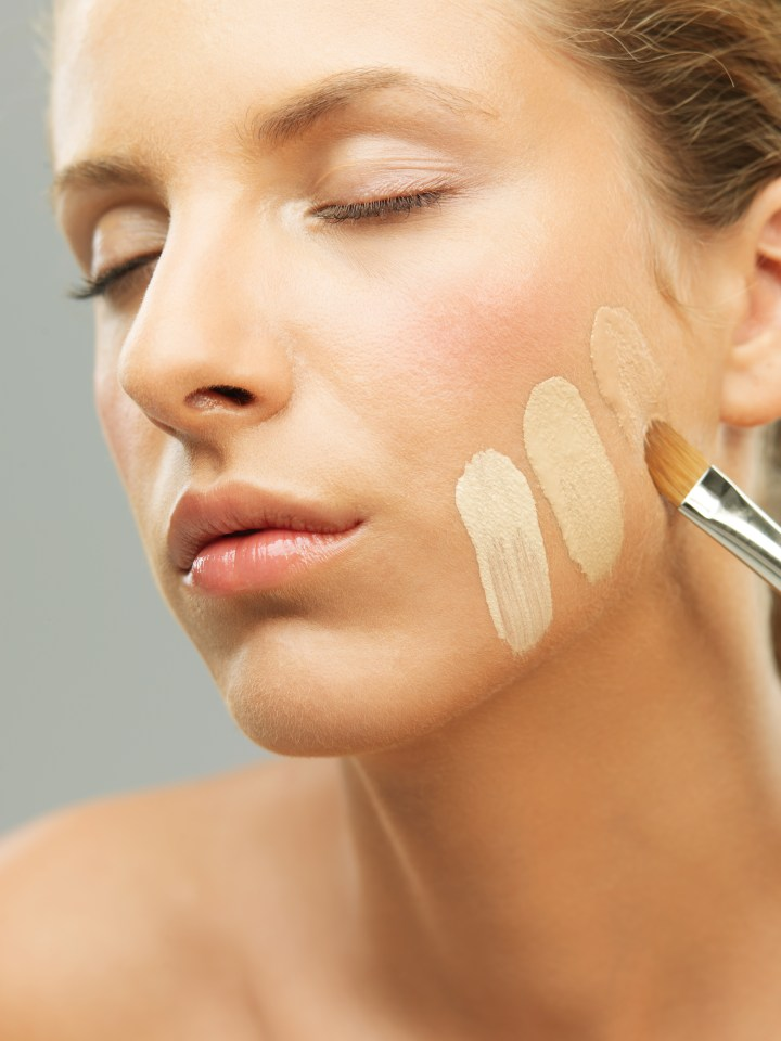 be sure your foundation matches your skin tone