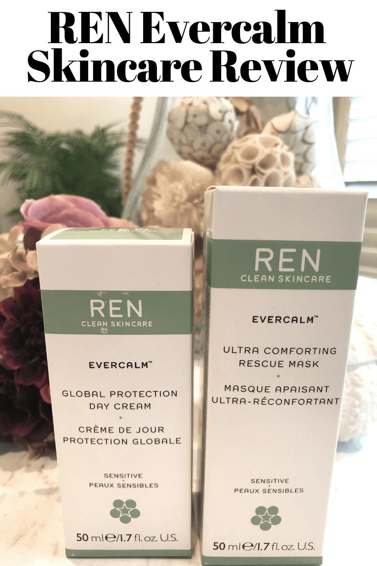 REN Evercalm Skincare review for sensitive skin on makeupobsessedmom.com