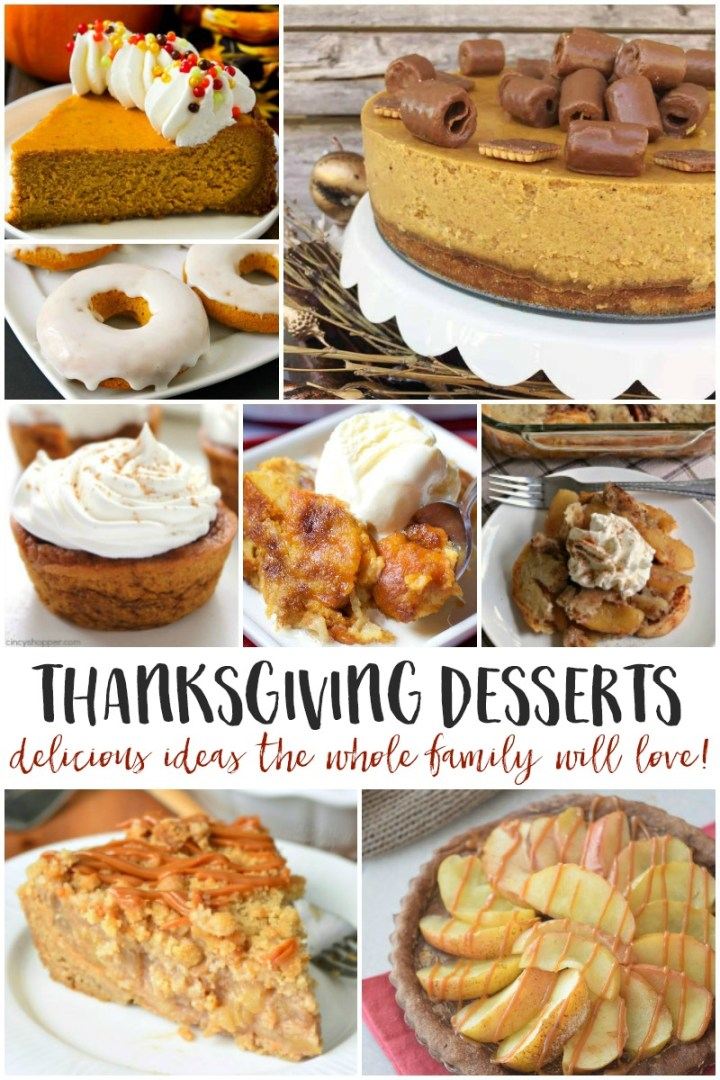 delicious Thanksgiving desserts