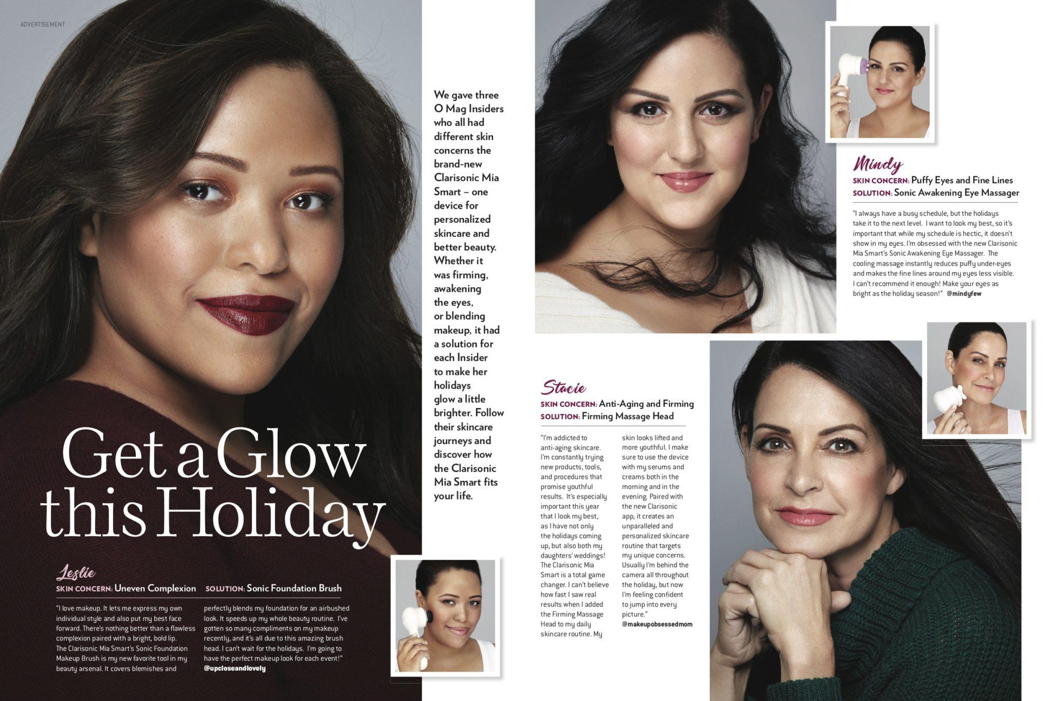 Clarisonic ad in Oprah Magazine