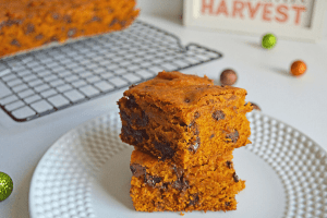 fast and easy pumpkin blondies