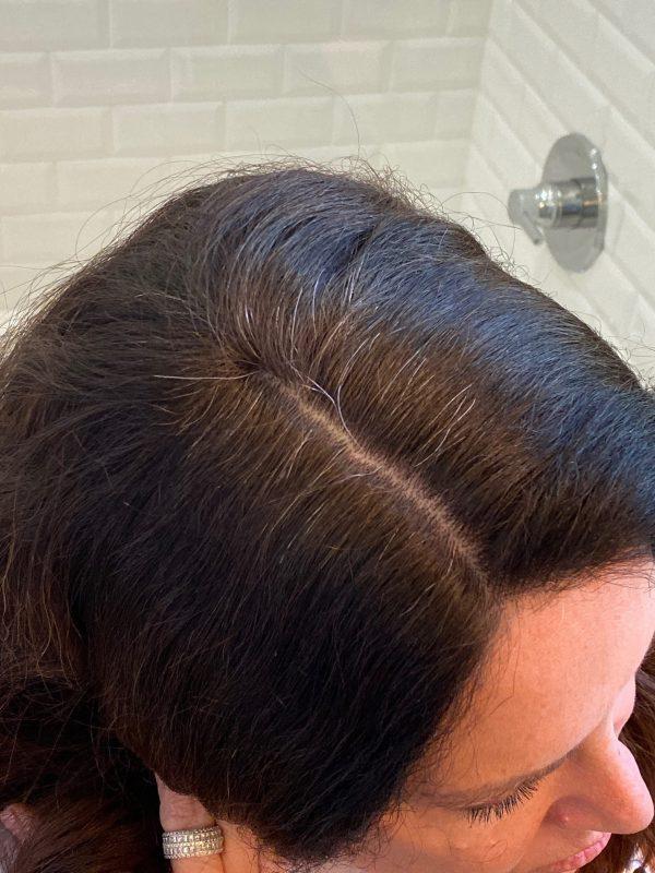 temporary gray hair coverage spray
