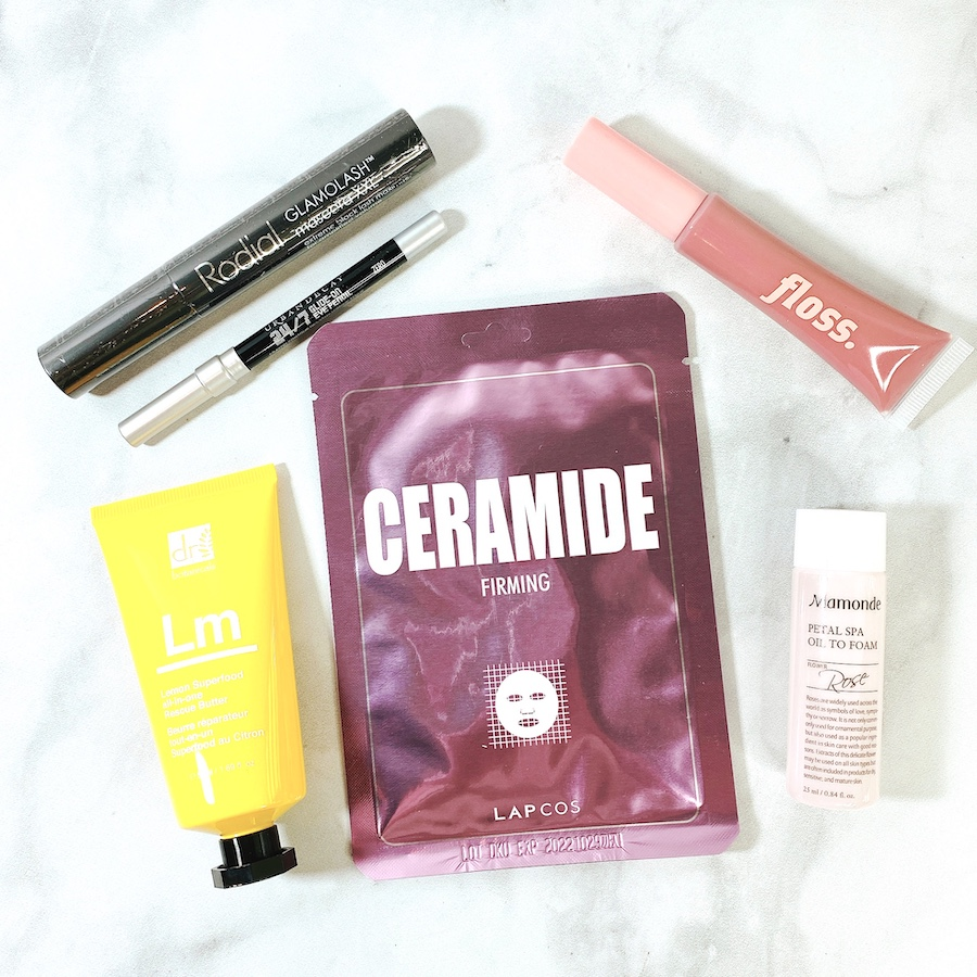 March Allure Beauty Box contents