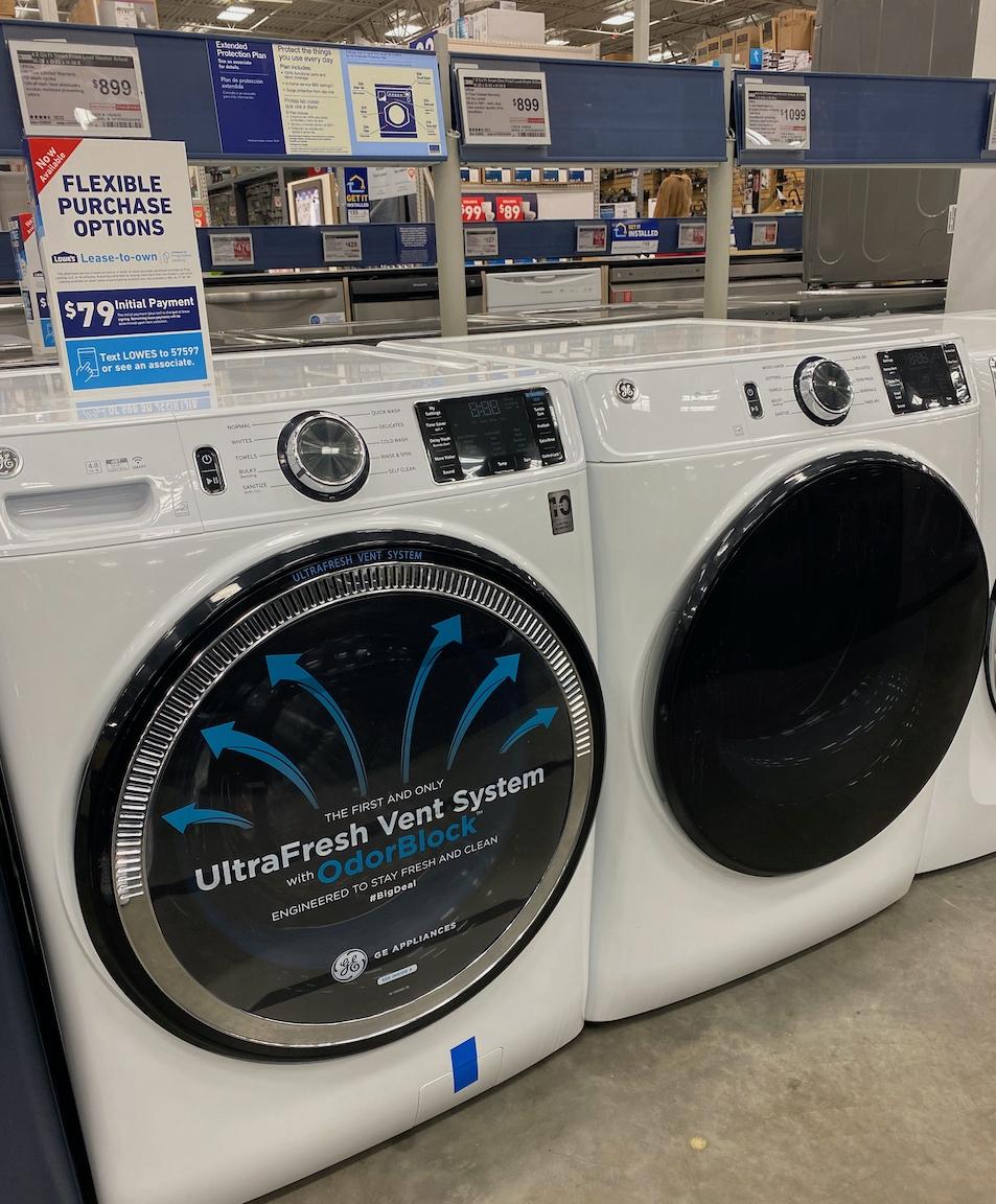 GE washer dryer set