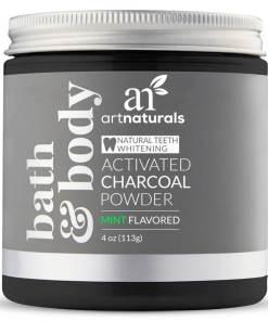 Artnaturals Activated Charcoal Powder Mint Flavored
