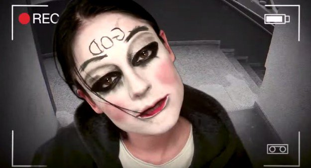 8. God Mask (The Purge: Anarchy) | 15 DIY Movie-Inspired Makeup Inspirations for Halloween