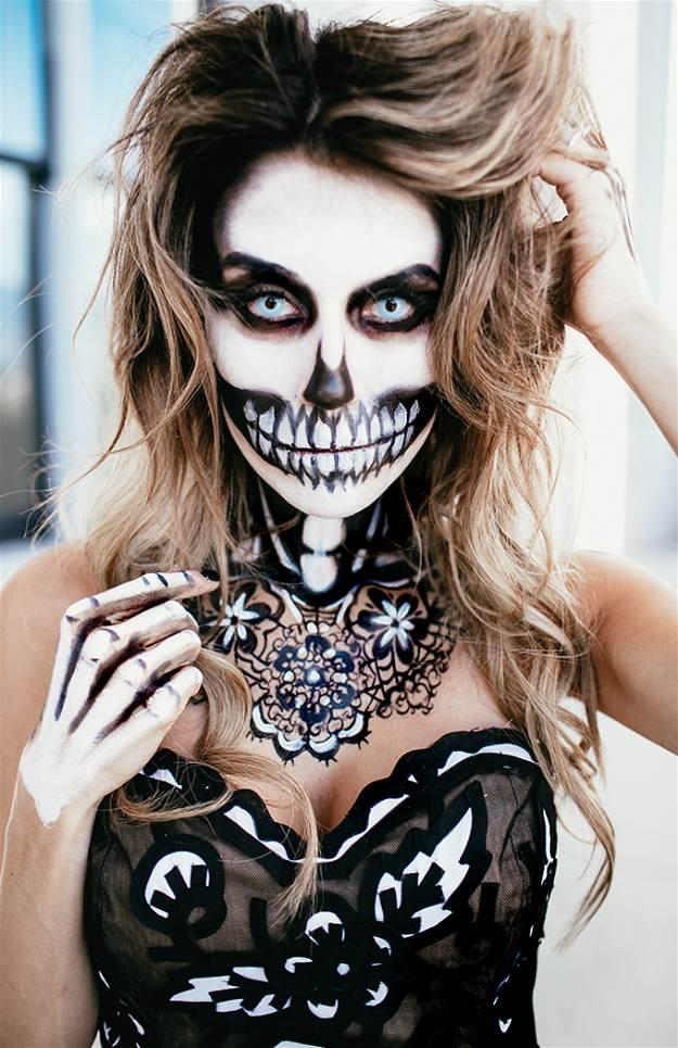Fashion Skeleton | Spooky Skeleton Makeup Ideas You Should Wear This Halloween