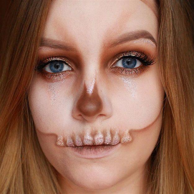 Orange Skull | Spooky Skeleton Makeup Ideas You Should Wear This Halloween