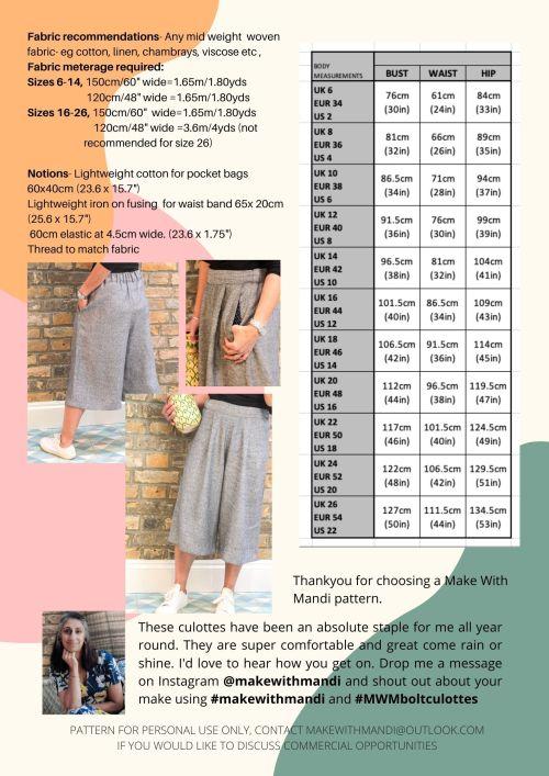 pattern back page