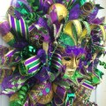 Deco mesh mardi gras wreath for door or wall fleur de lis fat tuesday