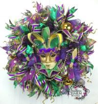 How to make a Deco Mesh Mardi Gras Garland | Teaching YOU ...