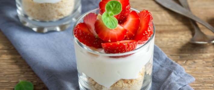 mini no-bake cheesecakes