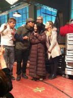 On The Set #12 - Derek, Boa, Napoleon during reshoots