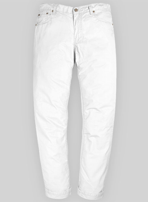 Summer Weight White Chino Jeans  MakeYourOwnJeans Made