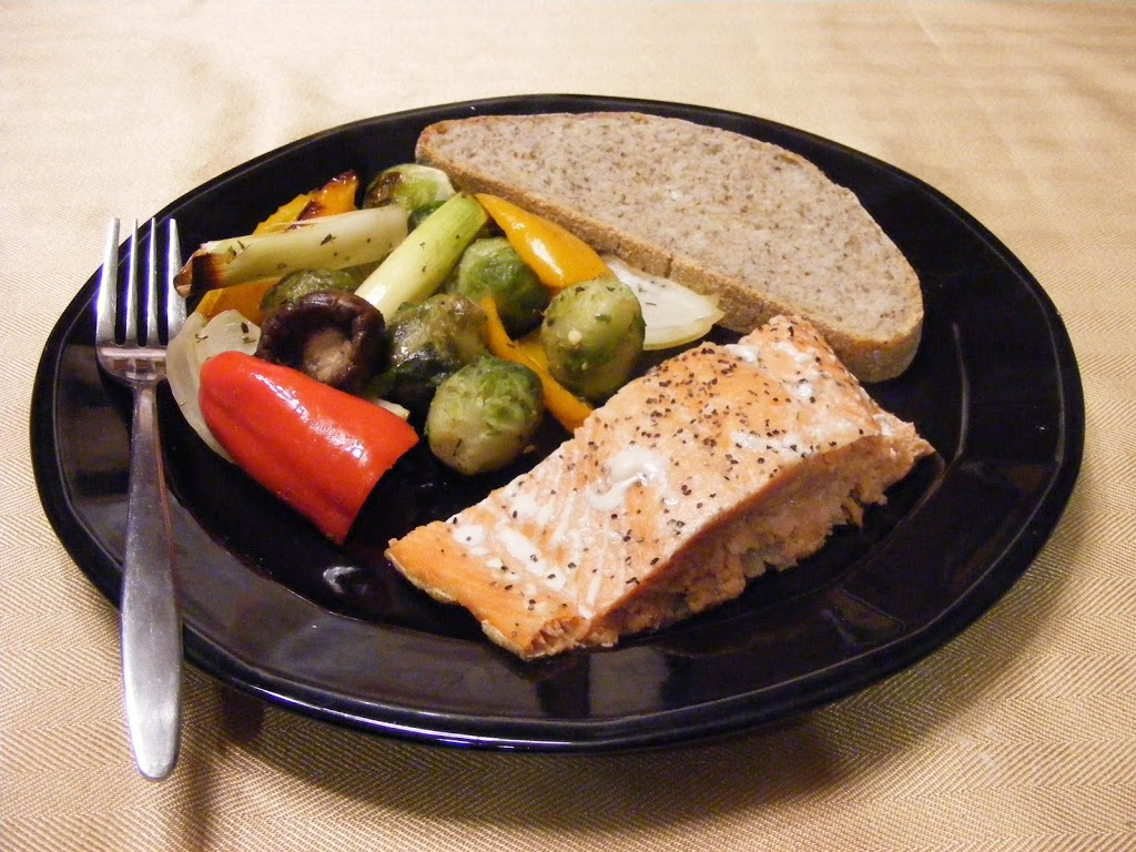 Grilled Salmon with Roasted Vegetables