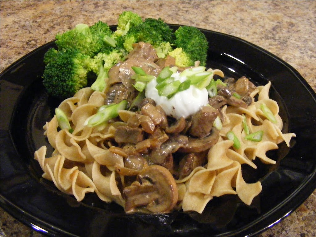 Mushrooms and Beef in Cream Sauce