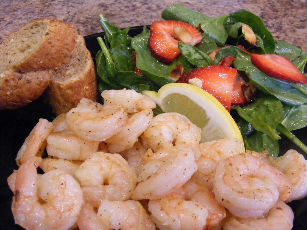 Grilled Shrimp and Strawberry-Spinach Salad